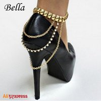 bella shoes - BELLA Sexy Women Gold Silver Punk Style Ankle Chain For Heel Shoe Jewelry