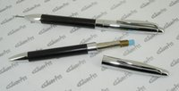 automatic gram - mm Mechanical Pencil Brass and PU leather Silver amp Black Automatic Retractable Pencil with Eraser Weight gram Heavy Pens
