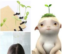 bean sprouts plant - 100pcs per Novelty Plants Grass Fruit Hair Clips Headwear Small Bud Antenna Hairpins Lucky Grass Bean Sprout Mushroom Party Barrettes