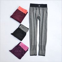 Wholesale 2015 Trousers Stretch Leggings Fitness Yoga Pants High quality Montage Double Side Elastic Force Pants Pencil Skinny Legging D631J