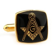 Cheap Mens Jewelry Masonic Cuff links High quality Stainless Steel Lodge Cufflinks For Freemasonry French shirt Costume Accessories #0495