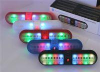 wireless speakers - 60pcs BT808L Speaker Wireless Mini Bluetooth Speaker LED light Hands free supports NFC speaker for iphone samsung S6