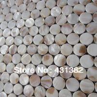Wholesale Decorative freshwater shell mosaic tiles circular mosaic Factory direct sale shell mosaic bathroom wall tile cheap shell mosaic tiles