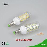 Wholesale 1Pcs New Arrival W LEDs SMD E14 LED Corn lamp AC V Ultra Bright SMD LED Candle light Bulb Chandelier Spotlight