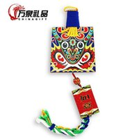 Wholesale Woodcut sided home jewelry pendant overseas Chinese knot festive gift gifts characteristics fire agency mask pendant