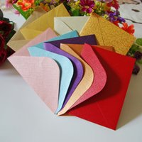 coupons - 100pcs Colors cm Candy Colors Mini Storage Envelopes For Invitation Business Coupon Envelope Blank Envelopes