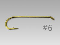 Wholesale Gold X long Dry Fly Streamer Fly Fishing Hooks Fly Tying Materials HK036