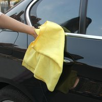 Wholesale Cheap Microfiber Car Cleaning Towel for Car Styling Hand Cloth Multifunctional Wash Washing Cloths cm Yellow K3725