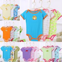 Wholesale Baby Romper Bodysuits New Brand Summer Newborn Infant Cotton Short Sleeve Jumpsuits One Piece Boys Girls Pajamas Clothing M