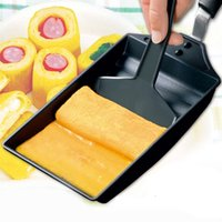 Wholesale Cooking Tools Egg Rolls Non Stick Frying Pan Pot Grill Aluminum Alloy Roasting Pans Bacon Pot Grills With Handle Shovel JE0038 kevinstyle