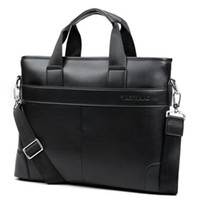 Wholesale new man handbag leather shoulder bags large capacity mobile business briefcase sacoche homme leather computer bags