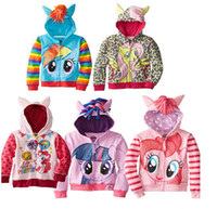 Wholesale 20pcs new outerwear My little pony Sweater hoodies sportswear boys girls Cartoon Hooded coat clothes hoody jacket styles D035
