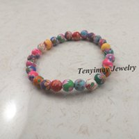 Wholesale Kids Printed Beaded Bracelet mm Polymer Clay Bracelets For School Children