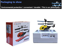 battery operated toy planes - DHL channel gyroscope V mah lithium battery mini remote control toy plane helicopter model plane