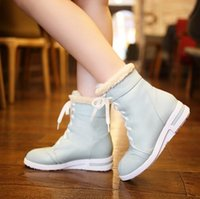 Wholesale 2014 Korean shoes short tube flat cotton velvet snow boots and a student section of high for short boots Item