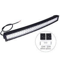 Wholesale New Arrival inch W Super bright LED off road light bar Cree Curved LED Work Light Bar Spot Flood beam ffroad Truck x4 ATV Lamp
