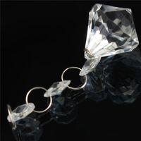 Wholesale Hot Sale DIY crystal Crafts Chandelier Clear Acrylic Ball Lamp Prisms Hanging Drops Pendant Decor Home Livingroom order lt no track