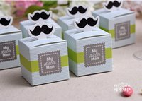 Wholesale Love Wedding Candy Favors Boxes paper box wedding party show candy box gifts Box with blue and green colors