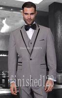 best winter wedding colors - New Fashion One Button colors Groom Tuxedos Notch Lapel Groomsmen Best Man Wedding Prom Dinner Suits Jacket Pants Vest Tie G3536