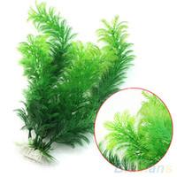 Wholesale Fish Tank Aquarium Decoration Green Artificial Plastic Underwater Grass Plant