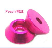 aircraft washers - F14379 Cone Cup Head Hex Screw Aluminum Alloy Socket Gasket Washer M2 M2 M3 M4 Pink Color for RC Model Aircraft