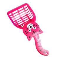 Wholesale FS Hot Pink Cat Pattern Plastic Pet Dog Cats Litter Scoop order lt no track