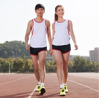 Wholesale Track suit set male Women running suit sports training suit