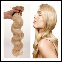 venda quente não transformados virgem brasileiro do cabelo loiro onda do corpo 3pcs grau 8a brasileiro loira corpo cabelo humano onda 12-26in extensão do cabelo humano