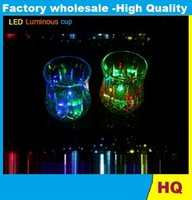 Wholesale Free DHL Colorful LED Pineapple Cup Flashing Bar Cups Liquid Sensor Luminous Beverage Wine Glass Supply Bar Nightclub Wedding Factory Price