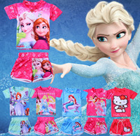 baby swimming suit - Frozen swimwear Frozen Anna Elsa Kids Swimwear Swim Set Children Snow Queen Beach Wear Girl Separate Bathing Suit babies clothes