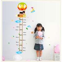 balloon measure - bedroom decoration Hot air balloon height measuring height and wallpaper paste AY884 children in kindergarten classrooms decorativ