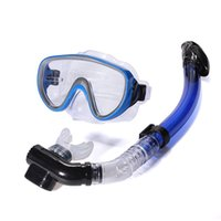 Wholesale PVC Swimming Scuba Anti Fog Goggles Mask Dive Diving Glasses Dry Snorkel Set