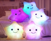 led pillow - HOT Colorful LED stars LED light pillow plush pillow Christmas toys