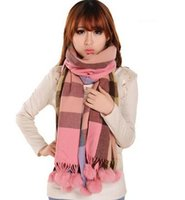 rabbit fur scarves - FenYang Ms rabbit fur balls scarf cashmere scarf CWJ0215