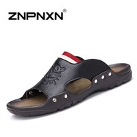 Wholesale ZNPNXN New men s sandals men Genuine leather sandals outdoor casual men summer leather shoes for men