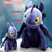 Wholesale New Train Your Dragon Cartoon Character Doll Toothless Night Fury Soft Plush Stuffed Toys Children Dolls Kids Toy