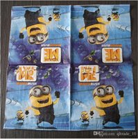 Wholesale 300 TOPB3900 kids minions Birthday party supplies Decorations paper minions tissue Despicable Me napkin paper minions Handkerchief paper