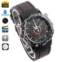 Wholesale HD P Mini DV Waterproof Watch Spy Camera Built in GB Memory fps