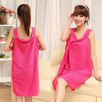 Wholesale B08 Variety Magic towel Microfiber bathrobe couple models wear soft absorbent towel bath towel