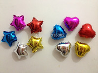 Wholesale wholesale100pcs Inch Five Point Star shape heart shaped Balloons foil balloons party decoration helium balloon