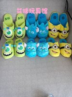 Wholesale slippers Despicable Me Minions boots warm shoes Monsters University MU slippers for men and women winter slippers