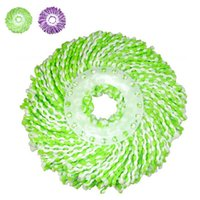 Cheap New Arrival Purple Green Chenille Mop Head Wet Dry Home Cleanning Tools Mop Heads For 360 Degree Magic Easy Spin Mops JG0025 Smileseller