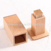 beech kitchen table - wooden Toothpick Holder Kitchen Dining bar Table Decoration storage Natural beech toothpick box gift