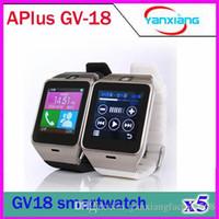 al por mayor monitor de 12 pc-5 PC relojes de pulsera Plus SmartWatch Teléfono GV18 Bluetooth manos libres para responder a la vigilancia del sueño Aplus elegante reloj para el smartphone ZY-SB-12