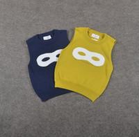 beautiful sweater coats - Boys Sweater Waistcoat Vest kids New Winter Autumn sleeveless Fashion Beautiful Fashion Glasses Coat ZZ
