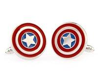 america cufflinks - HOT Selling Captain America cufflinks for shirts French cufflinks Cufflink For Mens Wedding Cuff Links L021