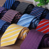 arrow ties - 145 Chic Fashion Neck Ties for Men Colors Jacquard Stripes Business Arrow Necktie Neck Ties Wedding Accessories Normal Size MT007