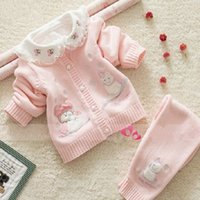 Wholesale BB2195 Newborn Cpw baby girls and boys sweater set cotton sweaters clothing set for kids snowily sets toddler clothing Snow man