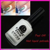 Wholesale New Arrive White Base Peel Off Gel Coat Finger Skin Protect Nail Liquid Palisade For Stamp Gel Polish Nail Polish