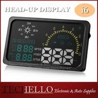 hud - Large Screen Hud Display Digital Tachometer Car Heads Up Display Speeding Display Suitable For All OBD2 Cars On Sale I6
